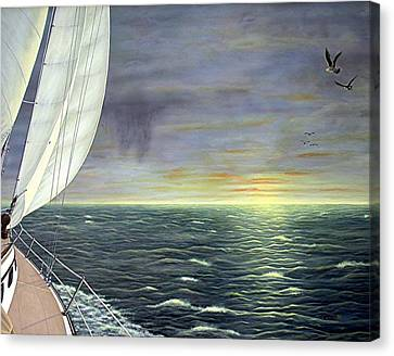 To The Breaking Sky Canvas Print by Jim Ziemer