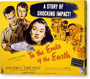 To The Ends Of The Earth, Dick Powell Canvas Print by Everett