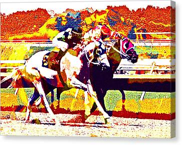 Canvas Print featuring the photograph To The Finish by Alice Gipson