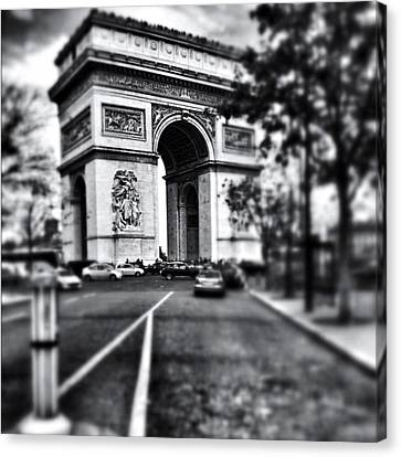 Iphoneonly Canvas Print - #today #paris #monument #bnw #monotone by Ritchie Garrod