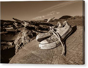 Canvas Print featuring the photograph Toes In The Sand by Randy Wood