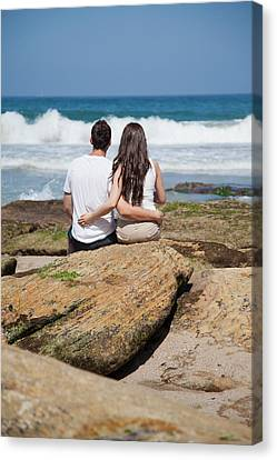 Canvas Print featuring the photograph Together by Carole Hinding