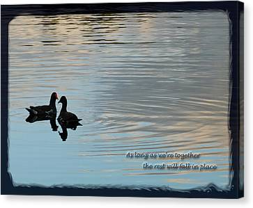 Together Canvas Print by Steven Sparks