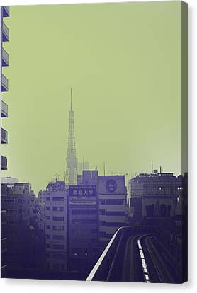 Tokyo City Ride Canvas Print by Naxart Studio