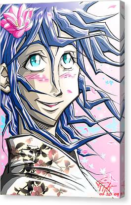 Tokyo Girl Canvas Print by Tuan HollaBack