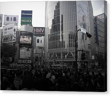 Tokyo Intersection 1 Canvas Print by Naxart Studio