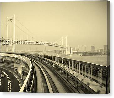 Tokyo Metro Ride Canvas Print by Naxart Studio
