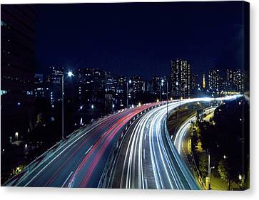 Long Street Canvas Print - Tokyo Metropolitan Expressway by Sinkdd