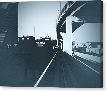 Tokyo Ride Canvas Print by Naxart Studio