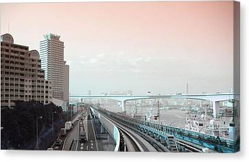 Tokyo Train Ride 3 Canvas Print by Naxart Studio