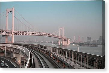 Tokyo Train Ride 4 Canvas Print by Naxart Studio
