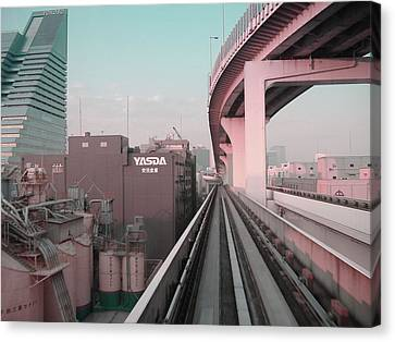 Tokyo Train Ride 5 Canvas Print by Naxart Studio