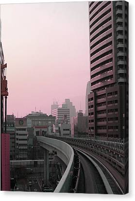 Tokyo Train Ride 6 Canvas Print by Naxart Studio