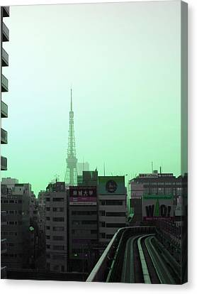 Tokyo Train Ride 7 Canvas Print by Naxart Studio