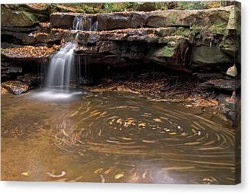 Canvas Print featuring the photograph Tolliver Falls by Jeannette Hunt