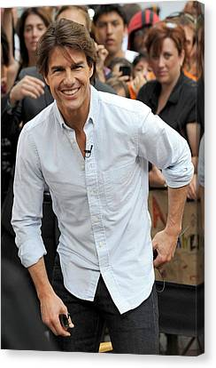 Tom Cruise At Talk Show Appearance Canvas Print by Everett