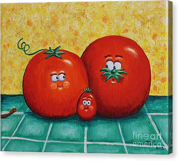 Tomato Family Portrait Canvas Print by Jennifer Alvarez