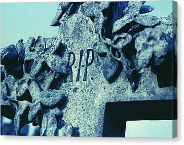 R.i.p Canvas Print - Tombstone by Kevin Curtis