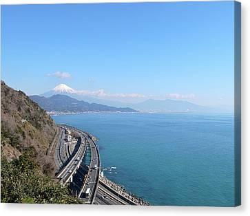 Tomei Expressway With Mt. Fuji Canvas Print by Bun Buku