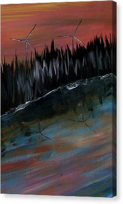 Silver Moonlight Canvas Print - Tomorrow  by Mark Moore