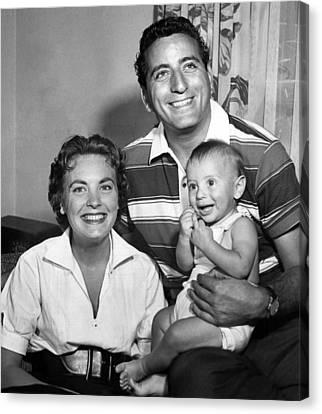 Tony Bennett, Wife Patricia, Son Canvas Print by Everett