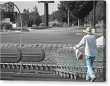 Canvas Print featuring the photograph Too Many Carts by Renee Trenholm