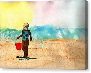 Too Much Sun Canvas Print by Floyd  Hiser