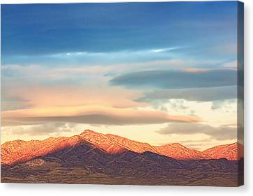 Tooele County Mountains At Sunrise Canvas Print by Tracie Kaska