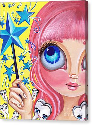 Tooth Fairy Canvas Print by Jaz Higgins