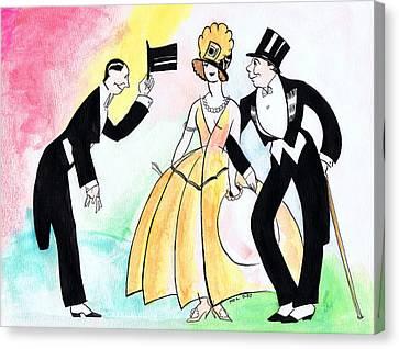 Top Hat Trio Canvas Print by Mel Thompson