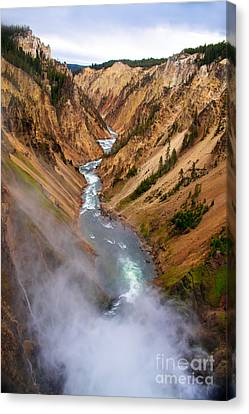 Top Of Lower Falls Canvas Print