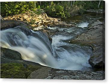 Michigan Waterfalls Canvas Print - Top Of The Dog 4191 by Michael Peychich