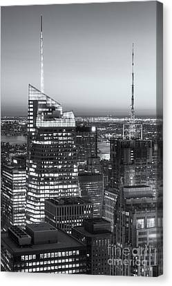 Top Of The Rock Twilight Vii Canvas Print by Clarence Holmes