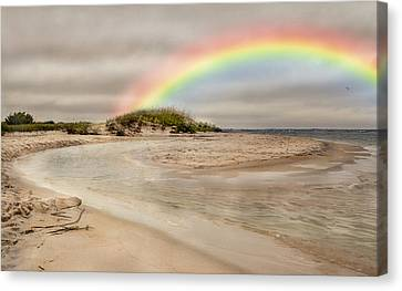 Topsail Island Canvas Print - Topsail Rainbow by Betsy Knapp