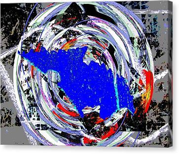 Torn Canvas Print by Tim Allen