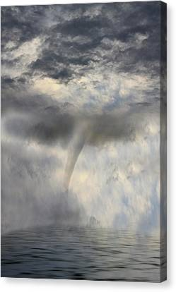 Tornado At The Sea Canvas Print