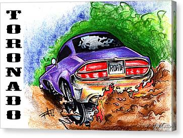 Toon Canvas Print - Tornado by Big Mike Roate