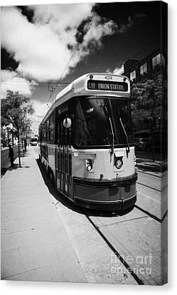 Toronto Transit System Ttc Tram Ontario Canada Canvas Print by Joe Fox