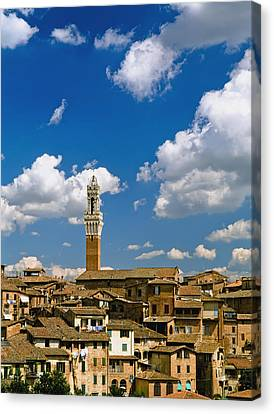 Torre De Mangia And Siena Skyline Canvas Print by Axiom Photographic