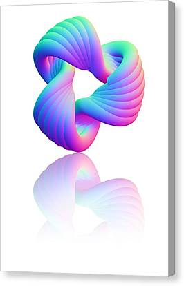 Torus Knot, Computer Artwork Canvas Print by Pasieka