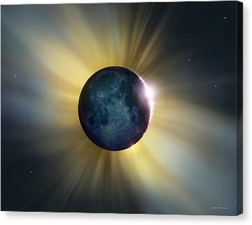 Total Solar Eclipse Canvas Print by Detlev Van Ravenswaay