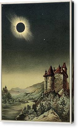 Total Solar Eclipse Of 1842 Canvas Print