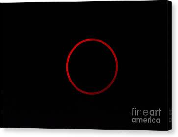 Totality During Annular Solar Eclipse Canvas Print by Phillip Jones