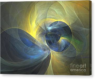 Touch Me - Abstract Art Canvas Print by Abstract art prints by Sipo
