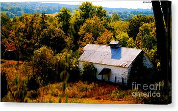 Canvas Print featuring the photograph Touch Of Old Country by Peggy Franz