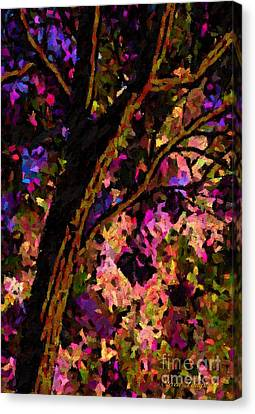 Canvas Print featuring the painting Touch Of Pink by Steven Lebron Langston