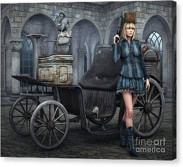 Tough Lady Canvas Print by Jutta Maria Pusl