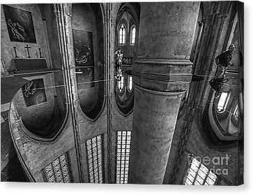 Canvas Print featuring the photograph Toulouse Reflections I by Jack Torcello