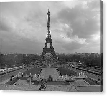 Canvas Print featuring the photograph Tour Eiffel by Blake Yeager
