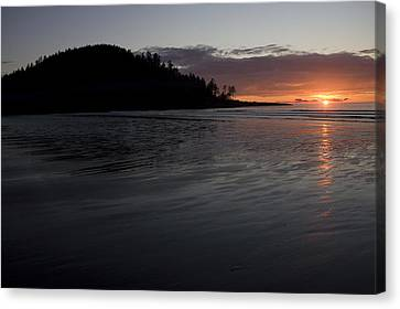 Tow Hill And North Beach At Sunset Canvas Print by Taylor S. Kennedy